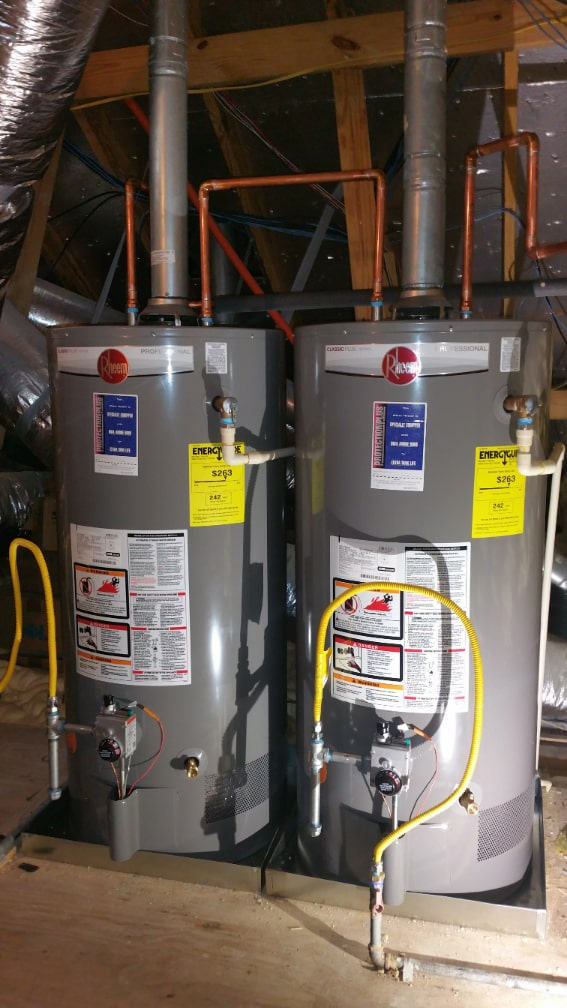 Tomball Water Heater Installation - Water heater system installed by Plumbing Right Now Inc.
